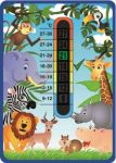 Baby Jungle Animals Nursery Room Thermometer