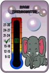 Baby Elephant Nursery Room Thermometer